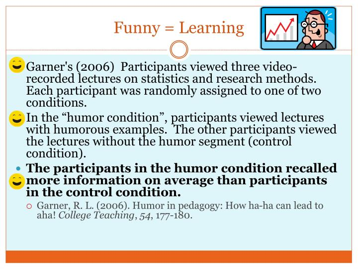 Funny = Learning