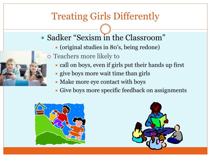 Treating Girls Differently