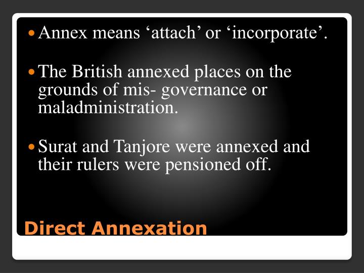 Annex means 'attach' or 'incorporate'.