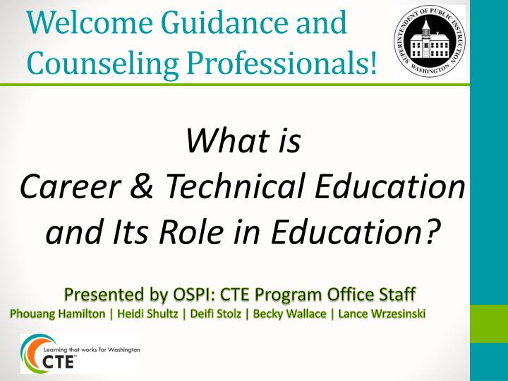 counselling and guidance in education Abstract this paper examines the place of guidance and counselling in early childhood teacher training a 20-item questionnaire was administered to 486 students drawn from university of education, winneba (uew) and university for development studies (uds) both public universities engaged in teacher education.