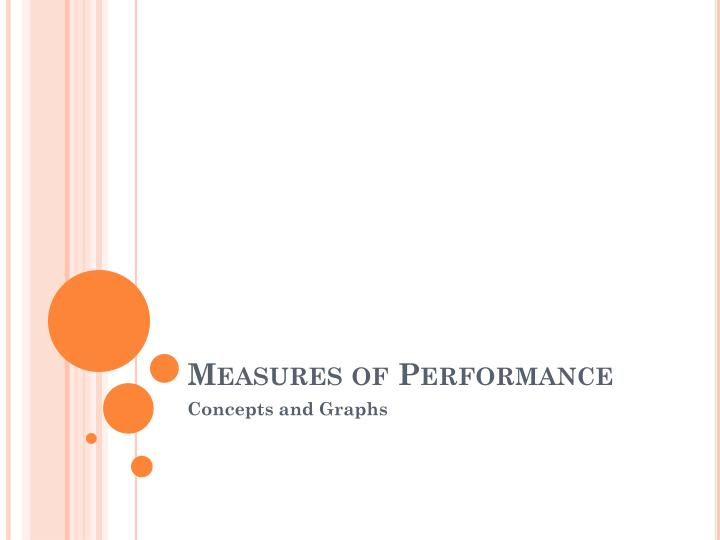 measures of performance