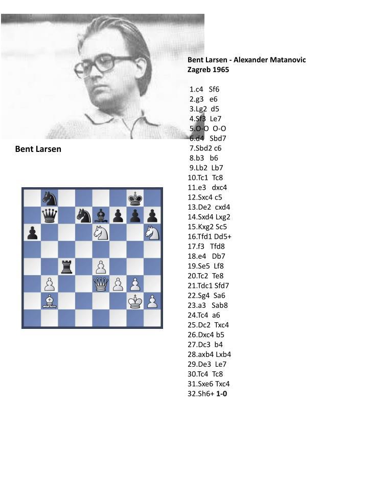 Bent Larsen - Alexander