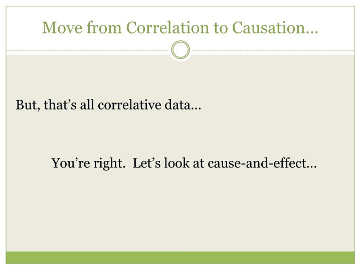 Move from Correlation to Causation…