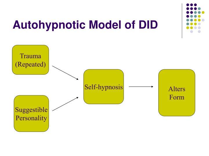Autohypnotic Model of DID