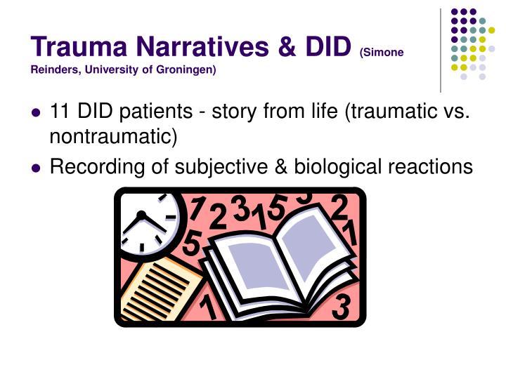 Trauma Narratives & DID