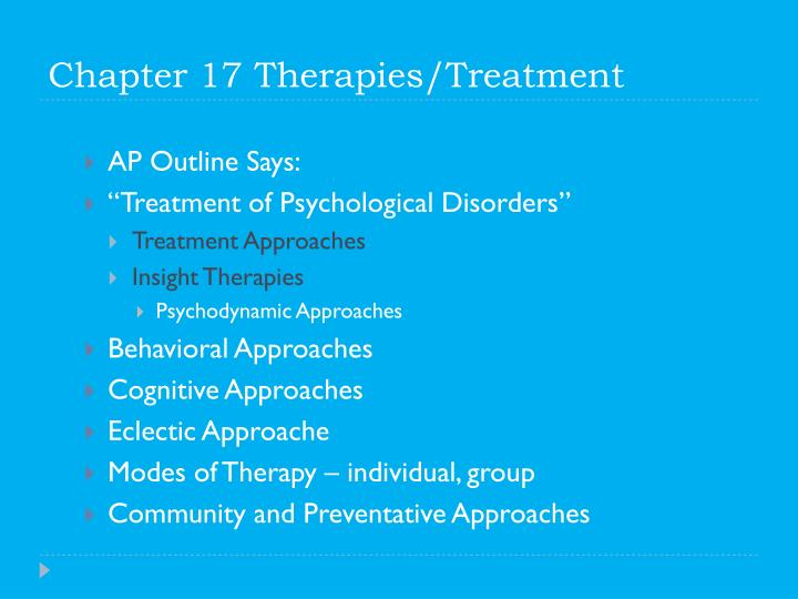 chapter 17 therapies treatment n.