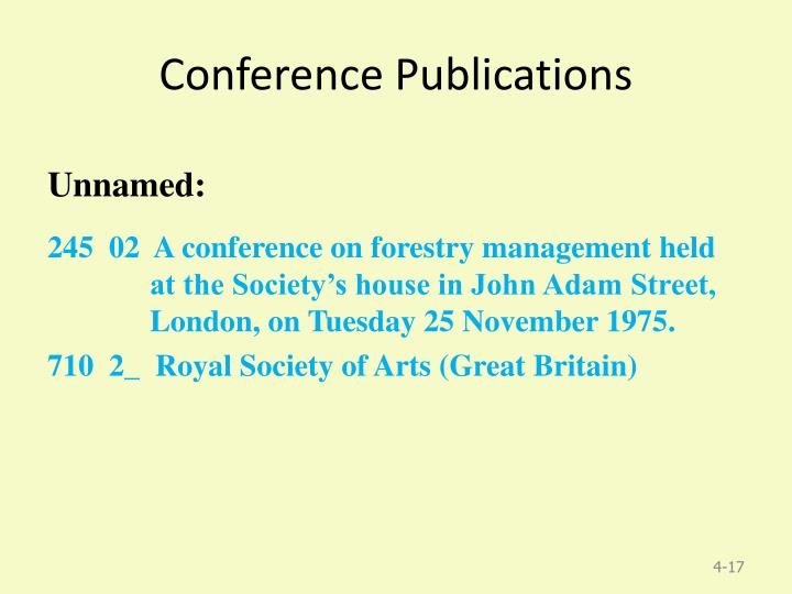Conference Publications