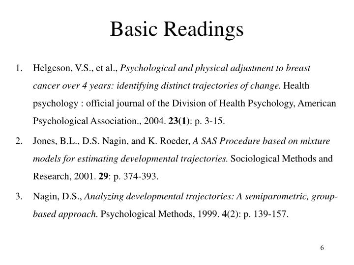 Basic Readings