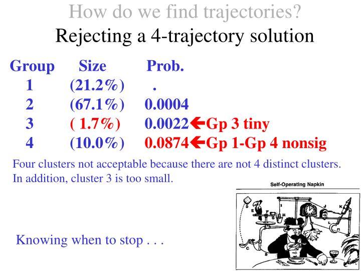 How do we find trajectories?