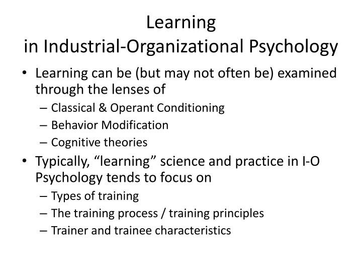 operant conditioning and workplace Operant conditioning is a form of learning process, often credited to psychologist bf skinner it attempts to change a specific behavior through reinforcement or punishment.