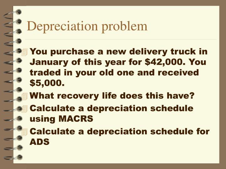 Depreciation problem