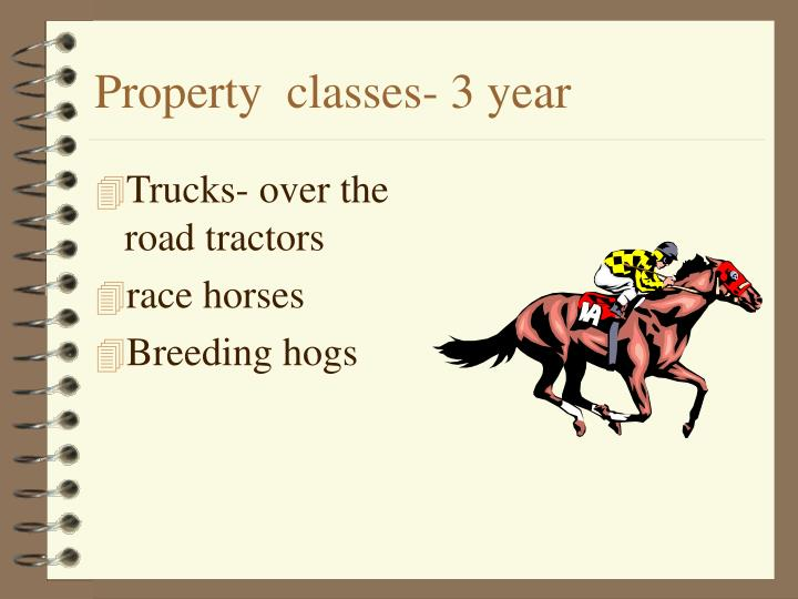 Property  classes- 3 year