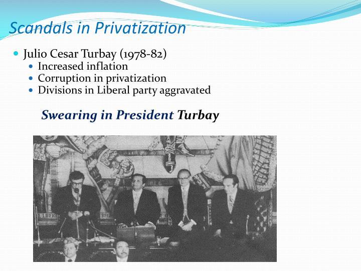 Scandals in Privatization