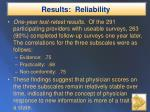 results reliability