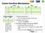 cache overflow mechanism1