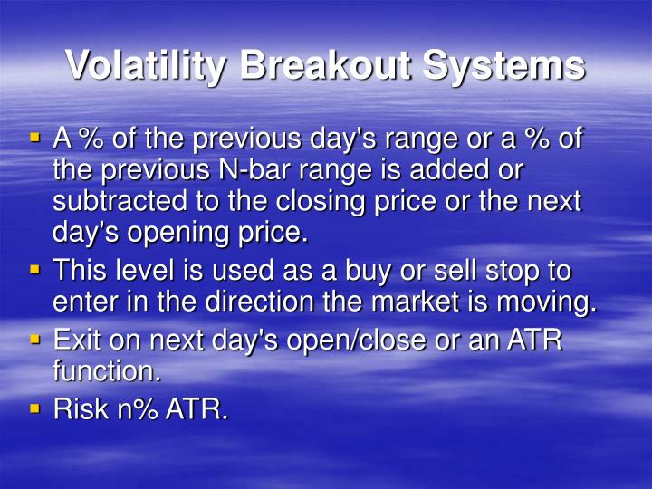Volatility Breakout Systems