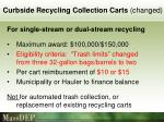 curbside recycling collection carts changed