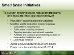 small scale initiatives