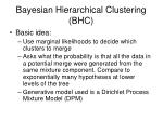 bayesian hierarchical clustering bhc