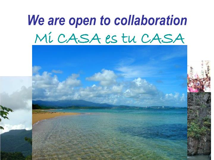 We are open to collaboration