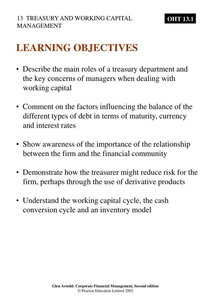 PPT - Describe the main roles of a treasury department and