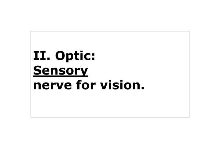 II. Optic:
