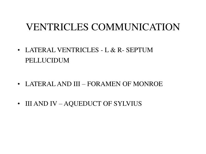 VENTRICLES COMMUNICATION