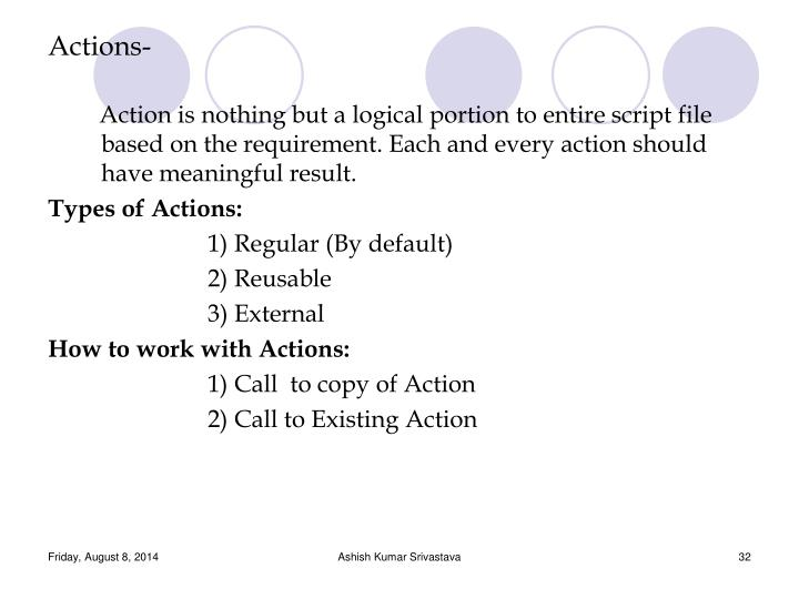 Actions-