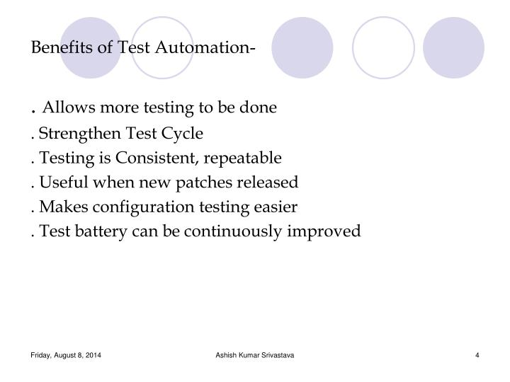 Benefits of Test Automation-