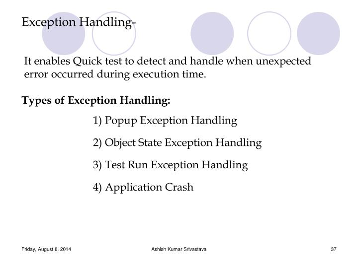 Exception Handling-