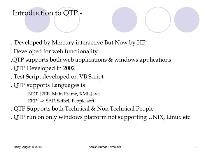 Introduction to QTP -