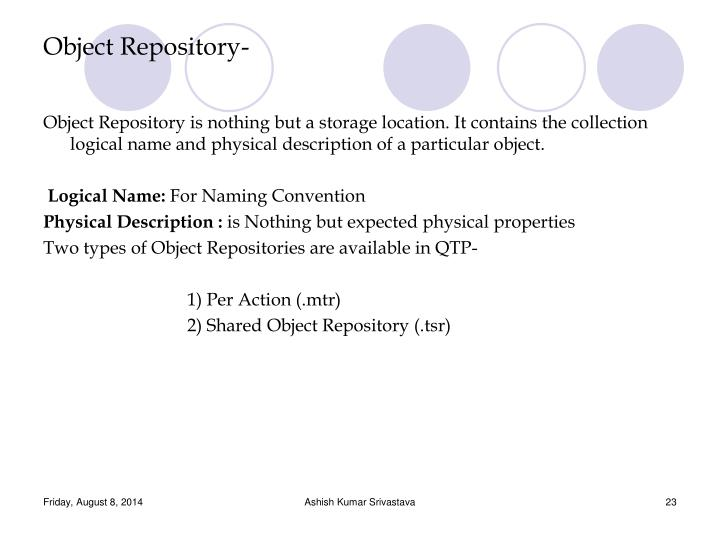 Object Repository-