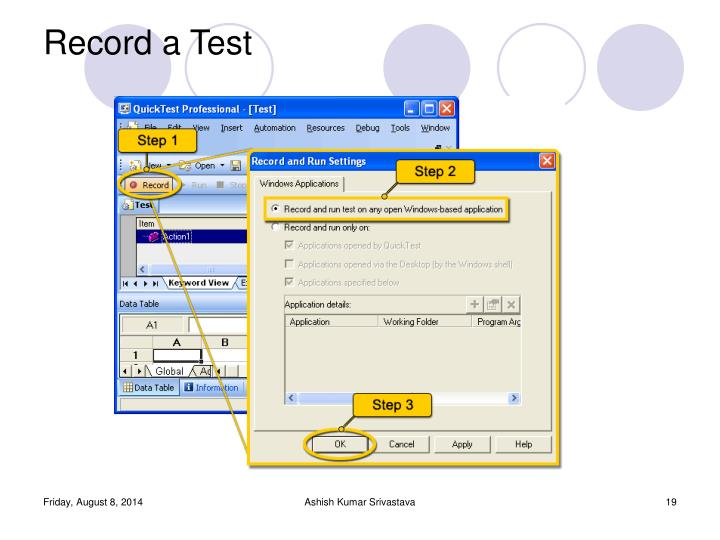 Record a Test