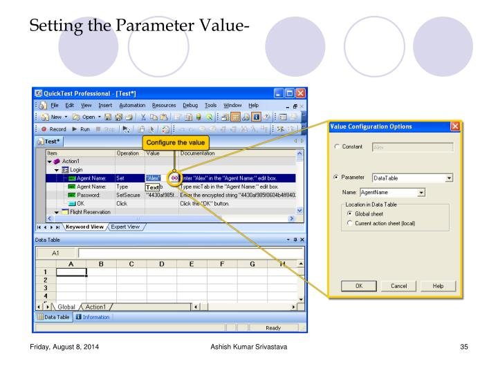 Setting the Parameter Value-
