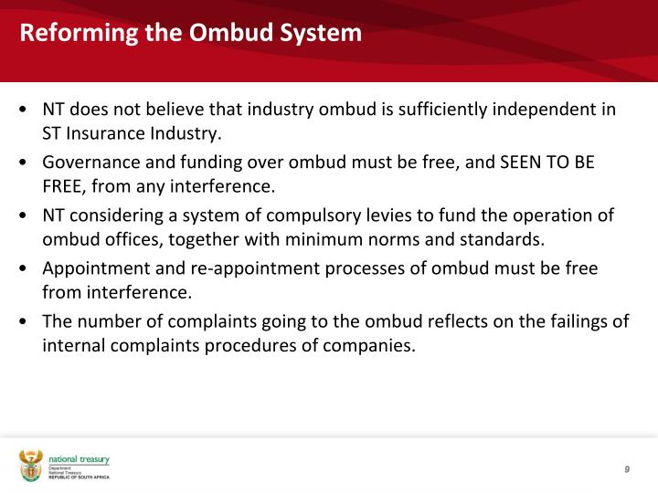 Reforming the Ombud System