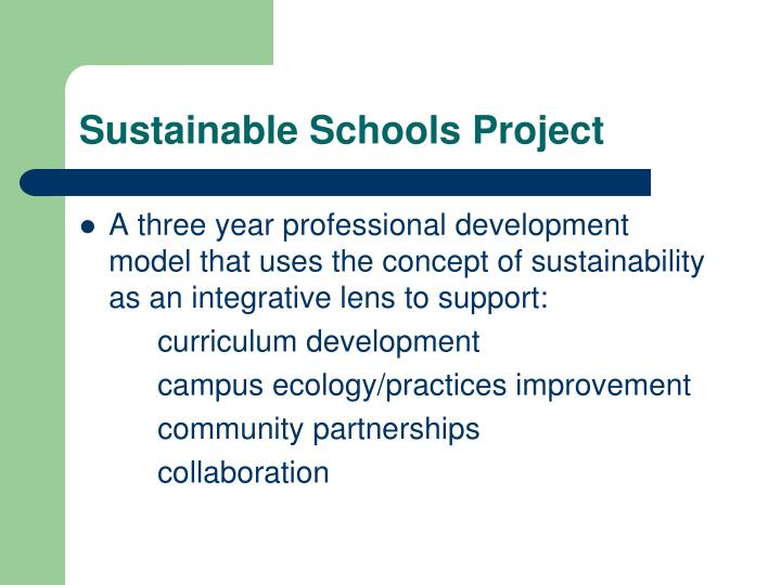 Sustainable Schools Project