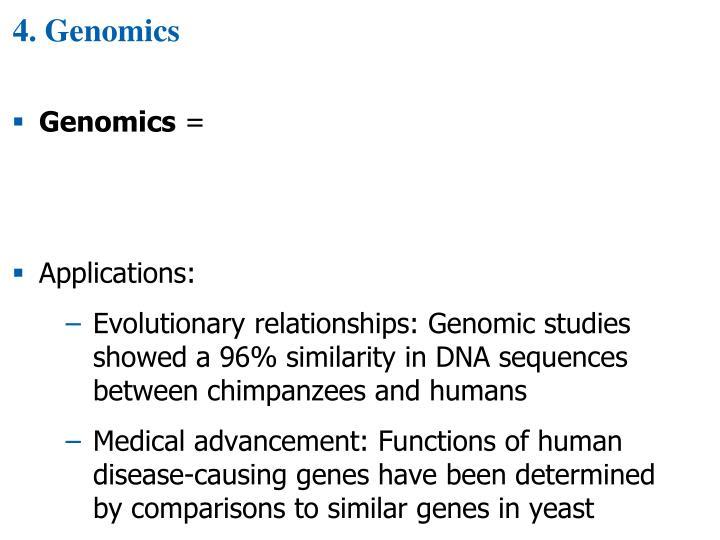 4. Genomics
