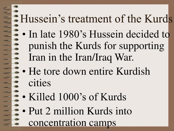 Hussein's treatment of the Kurds