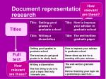 document representation research