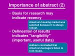 importance of abstract 2