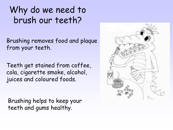 Why do we need to brush our teeth?