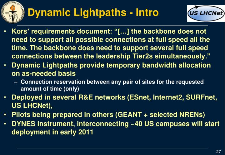 Dynamic Lightpaths - Intro