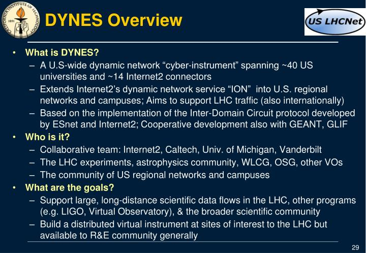 DYNES Overview