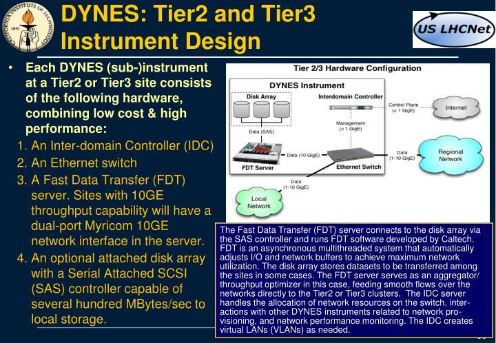 DYNES: Tier2 and Tier3