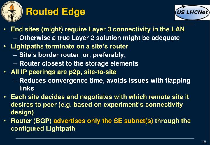 Routed Edge
