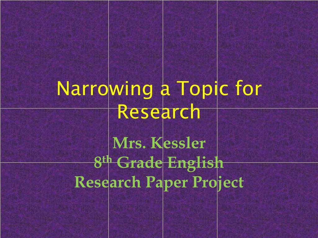 8th grade research topics