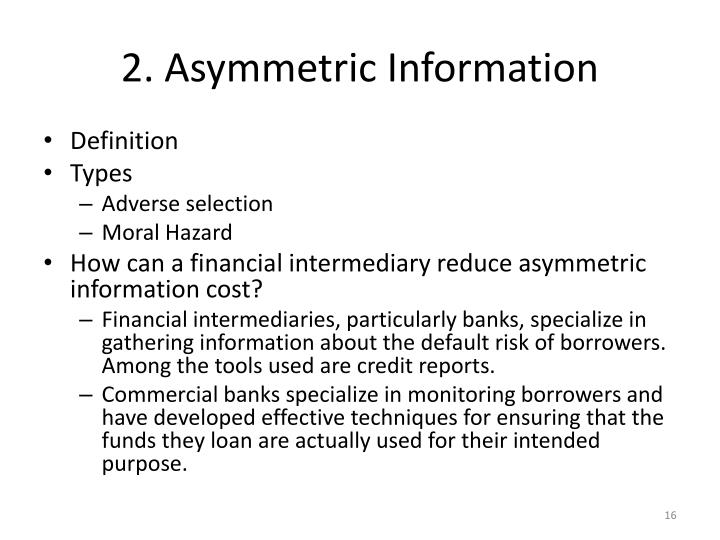 2. Asymmetric Information