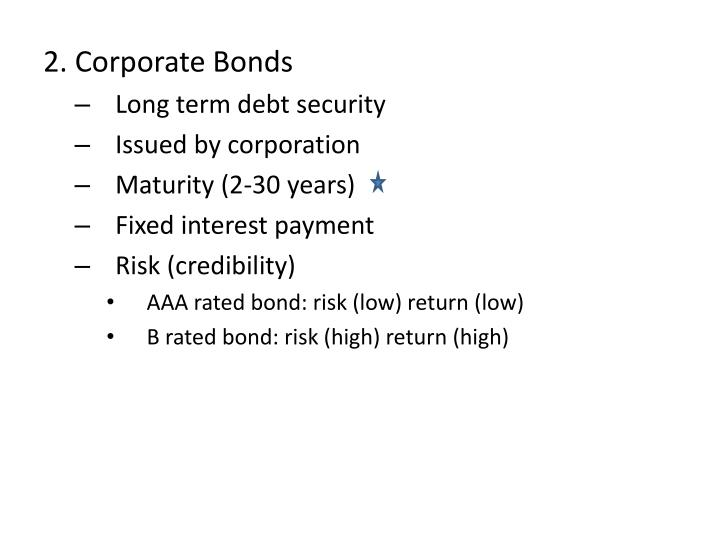 2. Corporate Bonds
