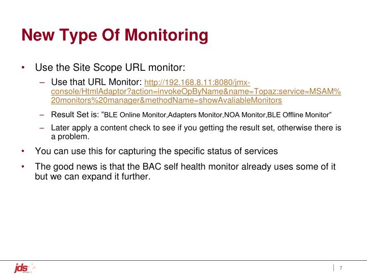 New Type Of Monitoring