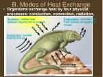 b modes of heat exchange